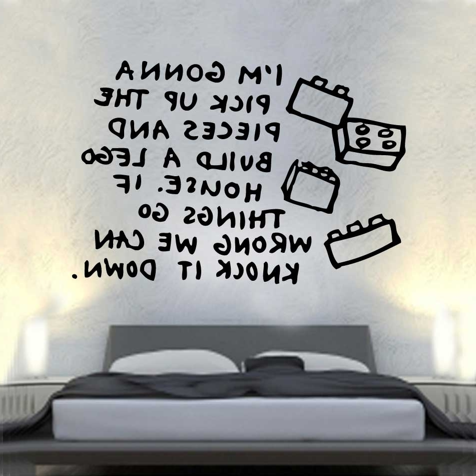 Well Known Song Lerics Vinyl Wall Art »  Shop » Home Intended For Song Lyric Wall Art (View 8 of 15)