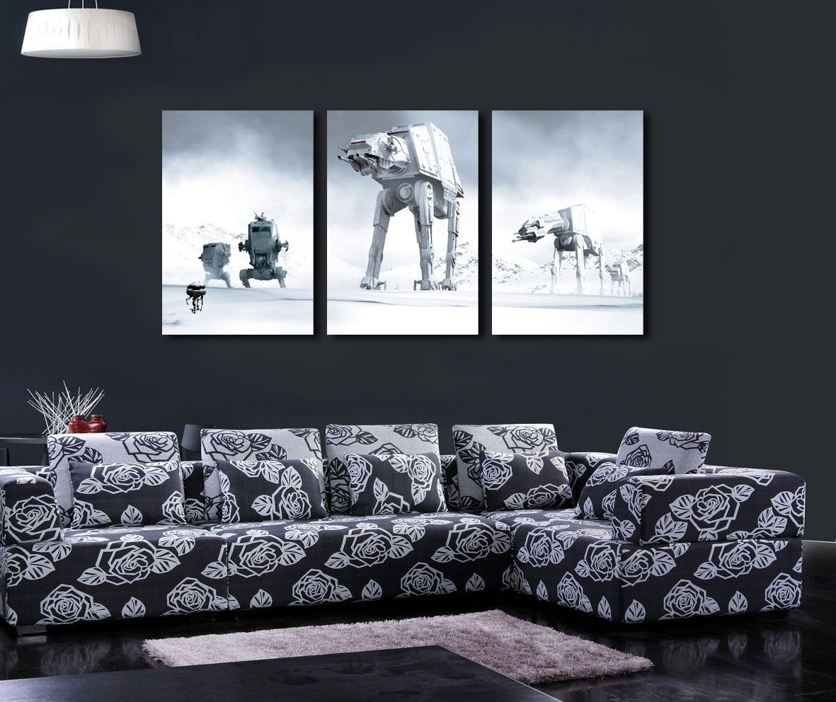 Well Known Star Wars Wall Art Throughout Star Wars Canvas Wall Art – Arsmart (View 12 of 15)