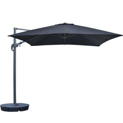 Well Known Sunbrella Fabric – Black – Cantilever Umbrellas – Patio Umbrellas Intended For Sunbrella Black Patio Umbrellas (View 9 of 15)