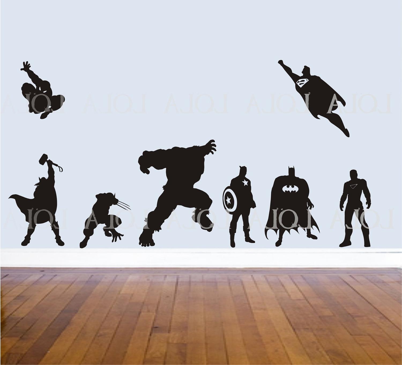 Well Known Superhero Wall Decor Talentneeds Scheme Of Superhero Wall Stickers Pertaining To Superhero Wall Art (View 15 of 15)
