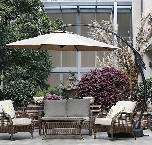 Well Known Top 10 Best Offset Patio Umbrellas In 2018 Throughout Expensive Patio Umbrellas (View 3 of 15)