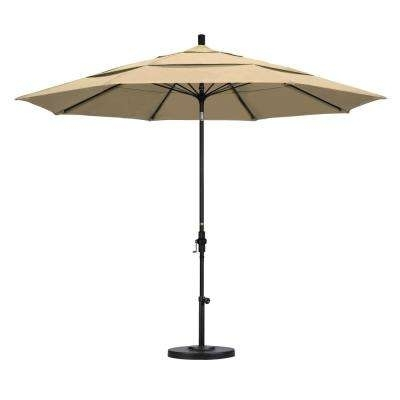 Well Known Vented Patio Umbrellas Within 11 – Beige – Patio Umbrellas – Patio Furniture – The Home Depot (View 15 of 15)