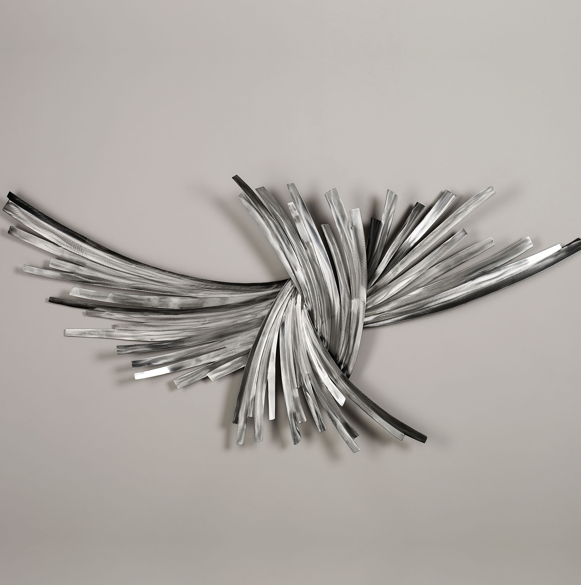 Well Known Wall Art Ideas Design : Abstract Steel Silver Wall Art Stained Inside Silver Wall Art (View 14 of 15)