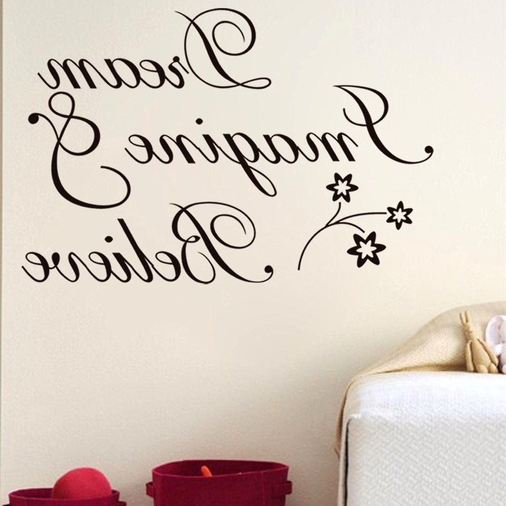 Well Known Word Art For Walls Intended For Delectable Outstanding Wall Decorations Goodly Art Words Stickers (View 12 of 15)
