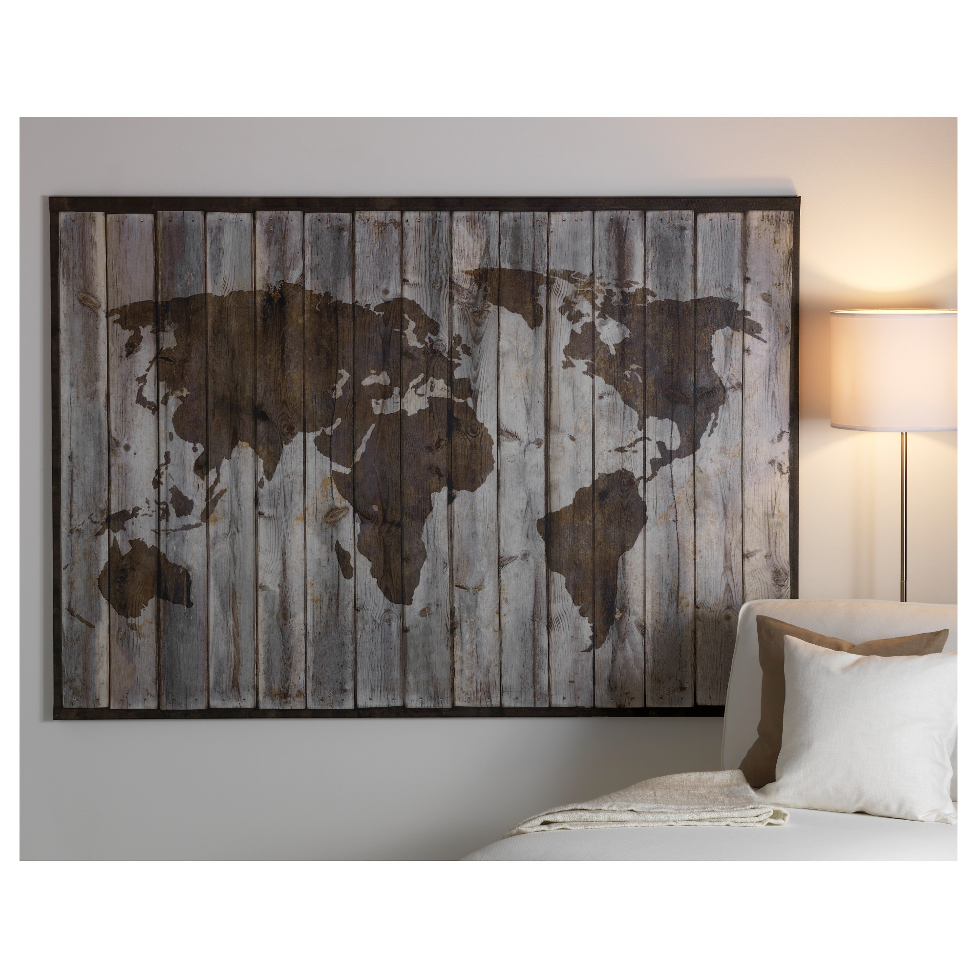 Well Known World Map Poster Ebay Best Posters Wall Art Ikea Canvas Of (View 5 of 15)
