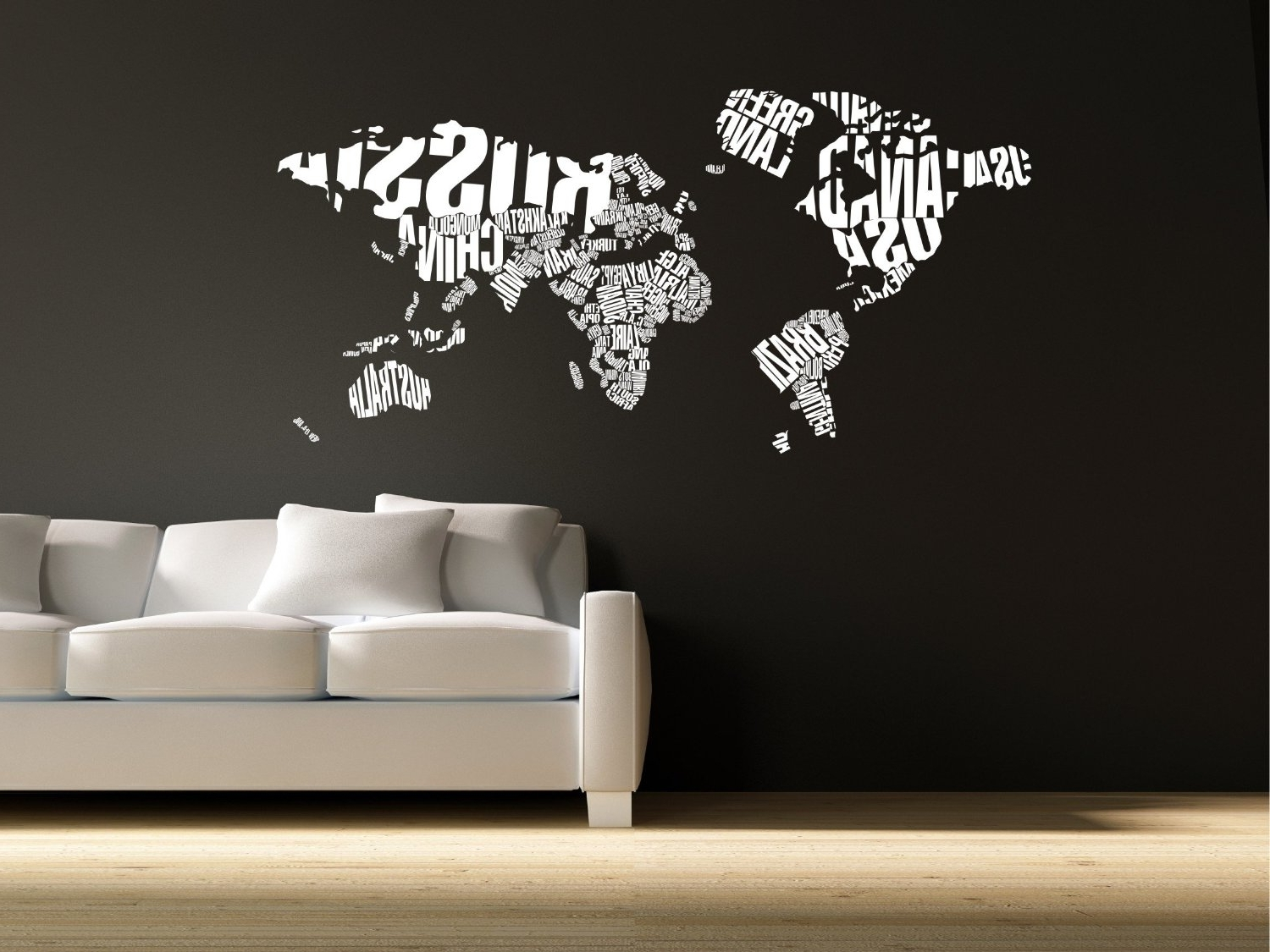 Well Known World Map Wall Decor Wall Vintage World Maps For Wall Decoration Pertaining To Vinyl Wall Art World Map (View 7 of 15)