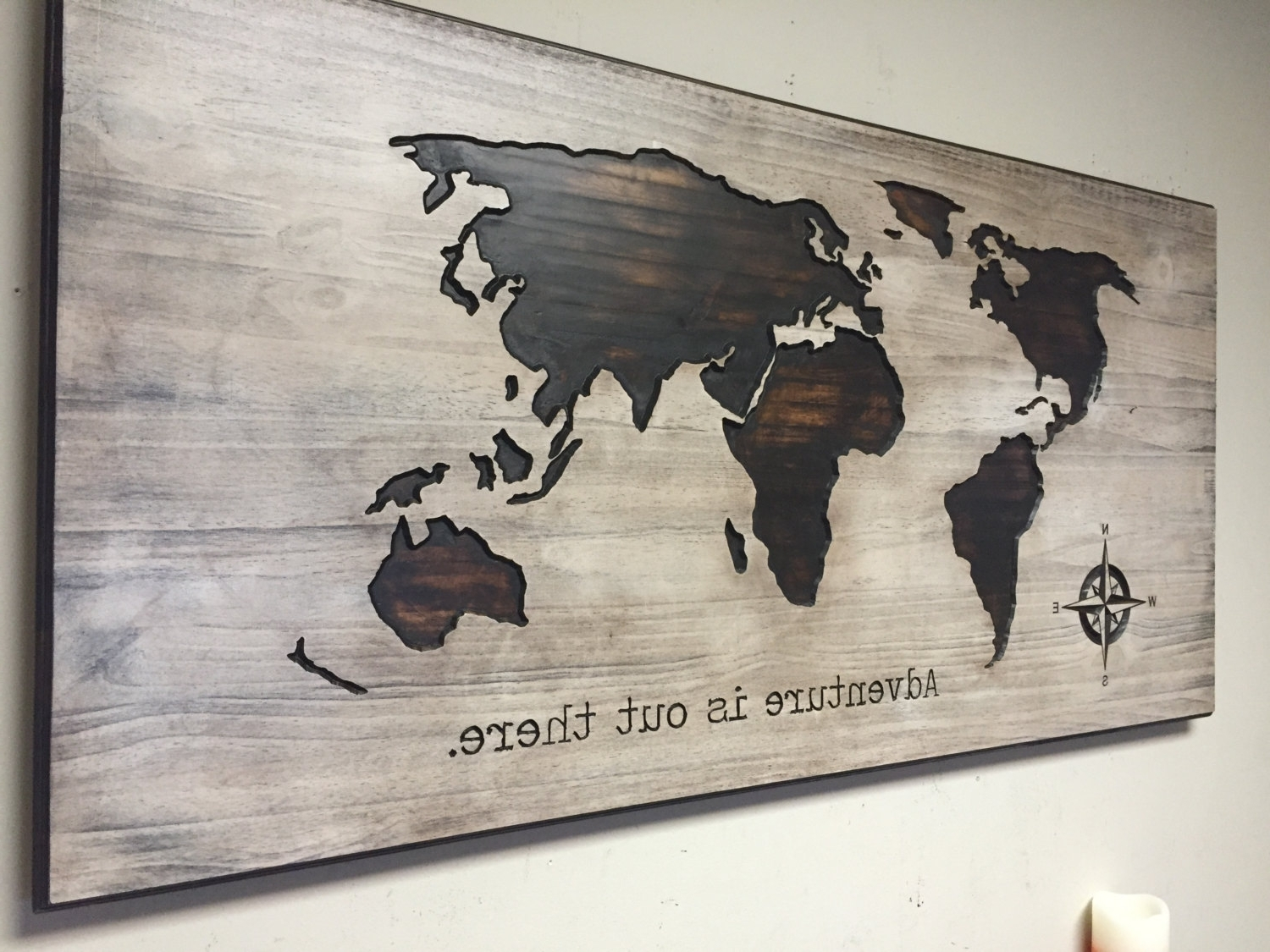 Well Known World Map Wood Wall Art With Regard To World Map Wood Wall Art Shannonleegilstad. Map Of Decor (View 13 of 15)