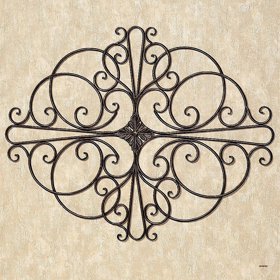Well Known Wrought Iron Wall Art Pertaining To Wall Art (View 14 of 15)