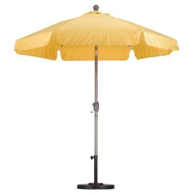 Well Known Yellow Patio Umbrellas Within Yellow – Patio Umbrellas – Patio Furniture – The Home Depot (View 3 of 15)