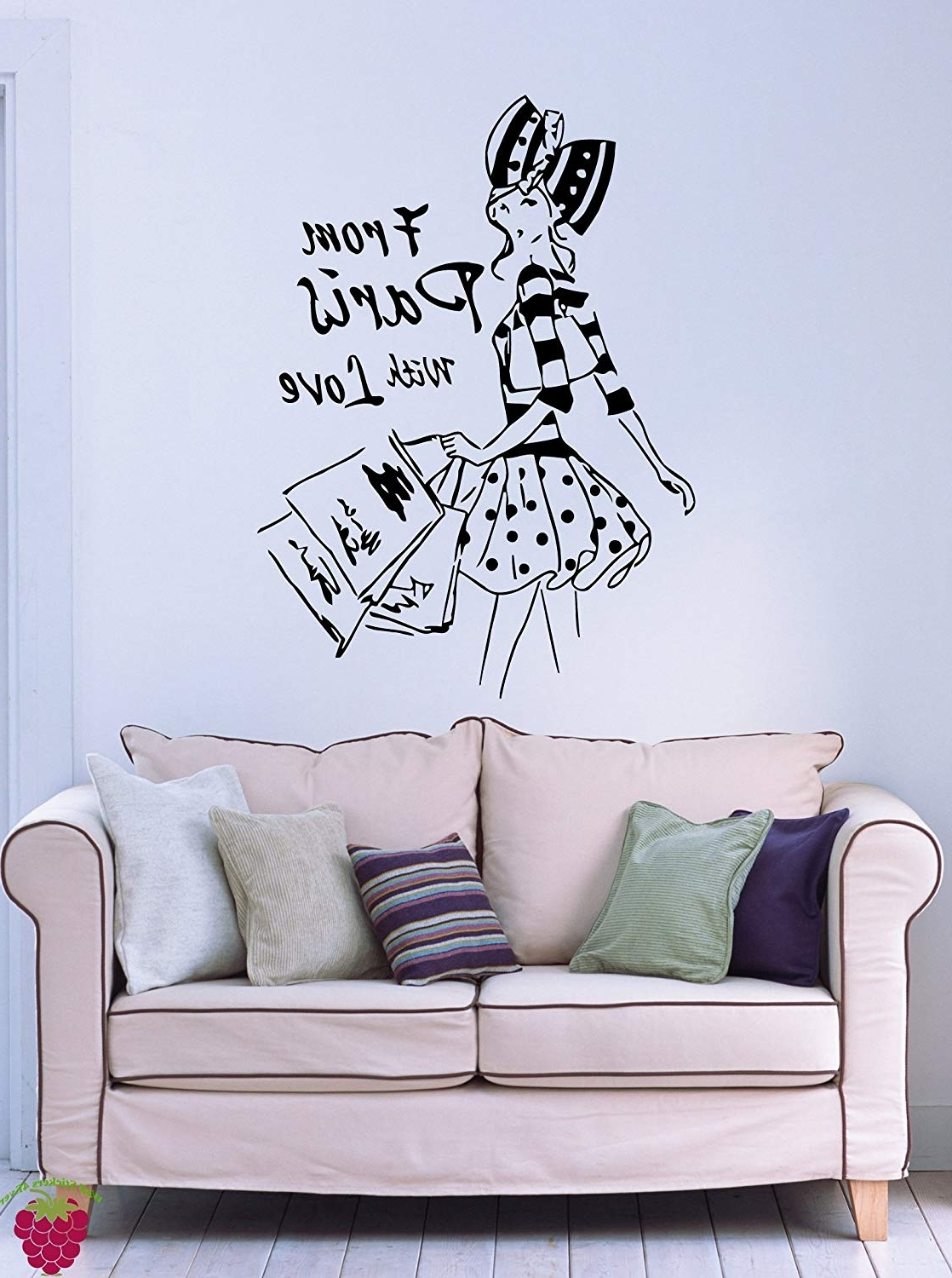 Well Liked Amazon: From Paris With Love French Fashion Woman Decor Wall Art Pertaining To Paris Wall Art (View 15 of 15)
