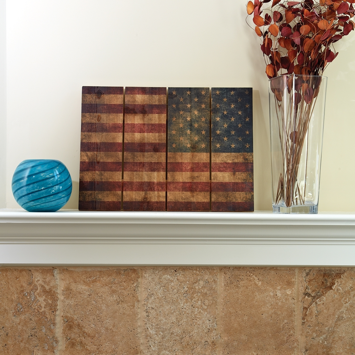 "Well Liked American Flag Wall Art With Wooden American Flag Wall Art (22"" X 16"") – From Sportys Preferred (View 13 of 15)"