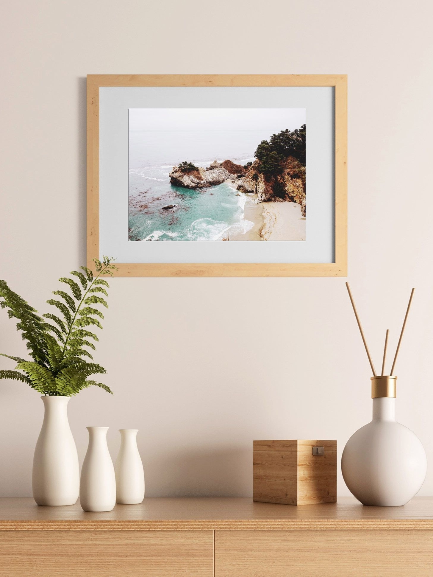 Well Liked Appealing Coastal Landscape Wall Art Decor California Print Picture With Regard To California Wall Art (View 9 of 15)