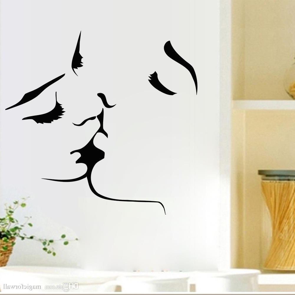 Well Liked Art For Walls In Kissing Wall Art Mural Decal Sticker Valentines' Day Romantic Home (View 15 of 15)