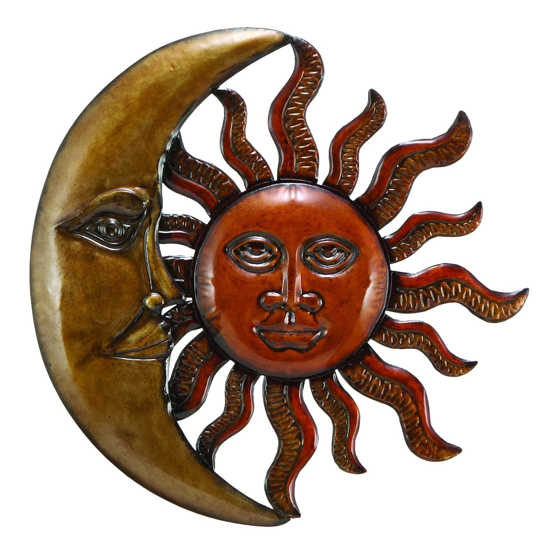 Well Liked Best Sun And Moon Metal Wall Art 40 On Outdoor Medallion Wall Art For Sun And Moon Metal Wall Art (View 15 of 15)