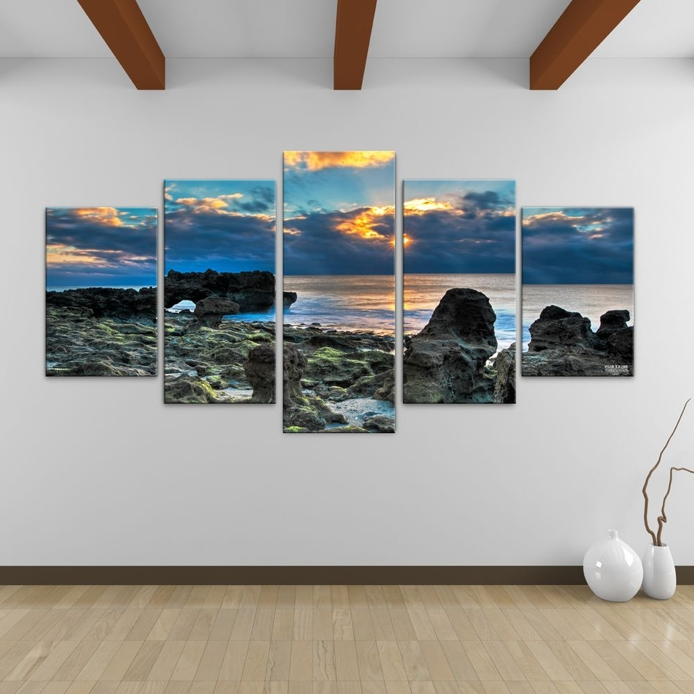 Well Liked Bruce Bain 'sun Rise' 5 Piece Canvas Wall Art (View 2 of 15)