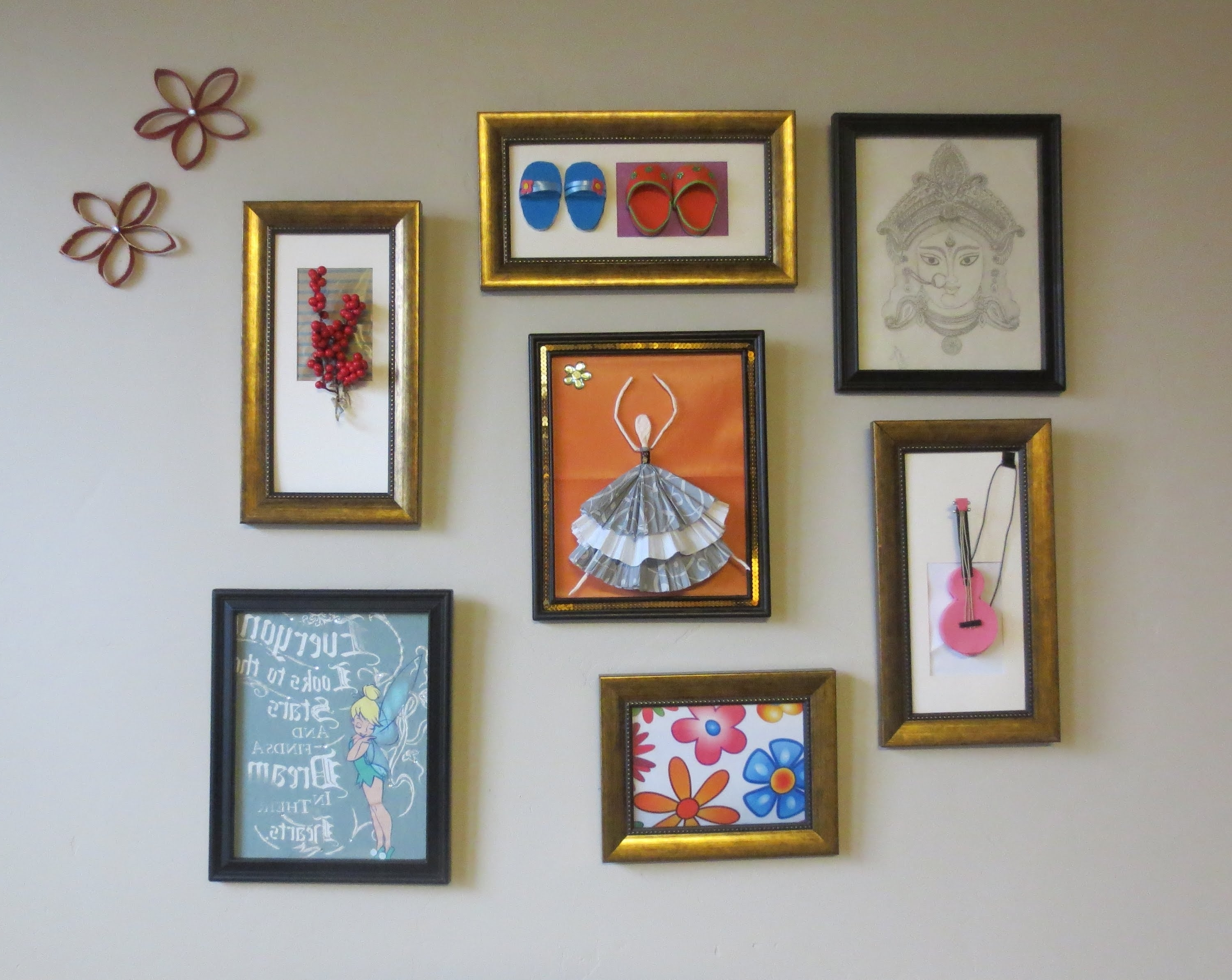 Well Liked Cheap Framed Wall Art With Regard To Home Decor : Tshirt Graphic & 3D Wall Art Picture Frame Collage (View 6 of 15)