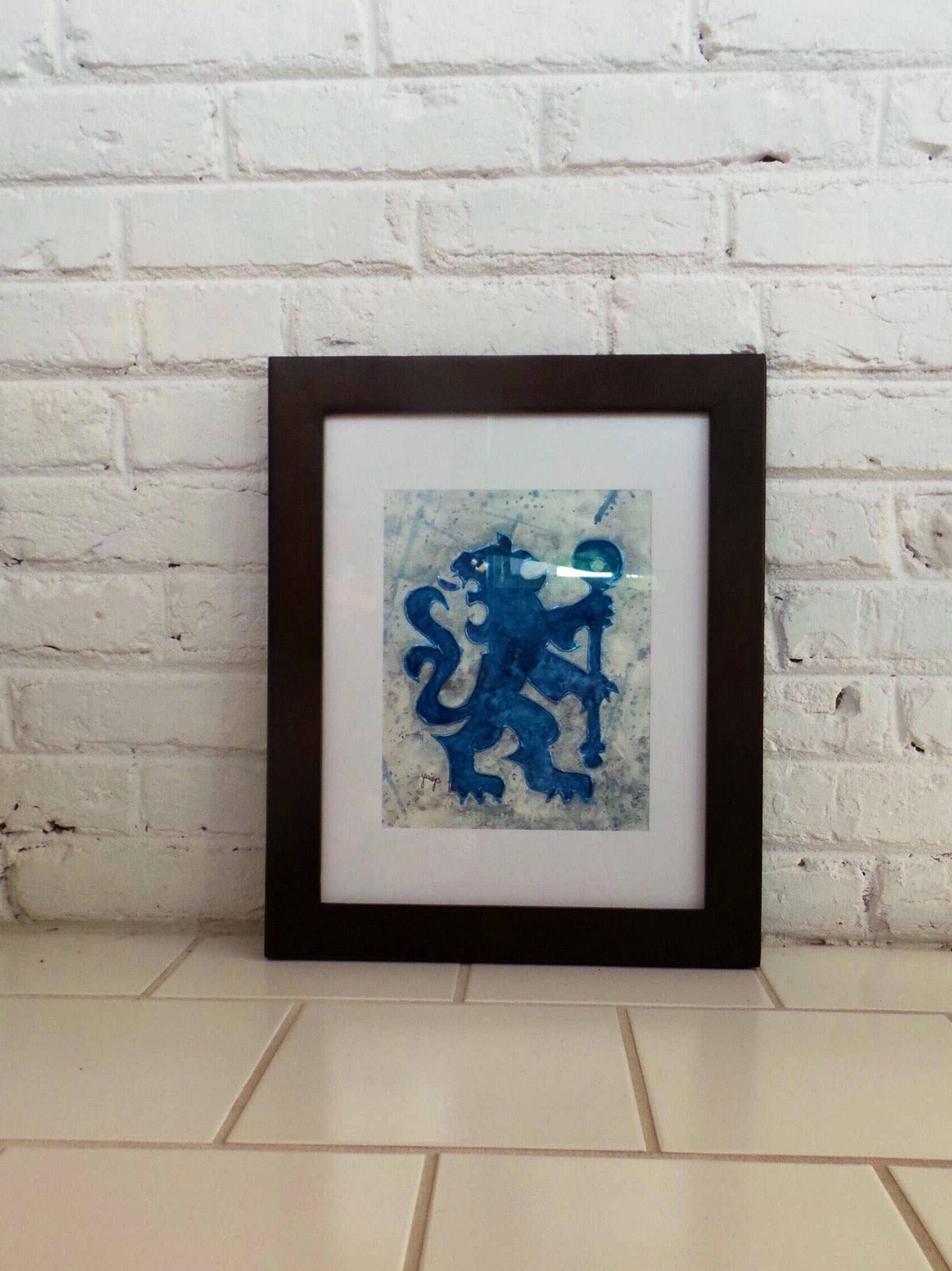 Well Liked Chelsea Fc Art, Soccer Wall Art, Soccer Fan Gift, Gift For Him Intended For Soccer Wall Art (View 10 of 15)