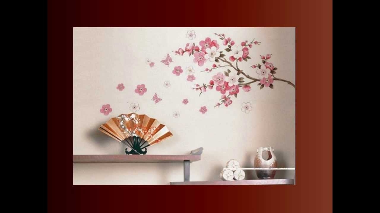 Well Liked Cherry Blossom Wall Art In Cherry Blossom Wall Art – Youtube (View 2 of 15)