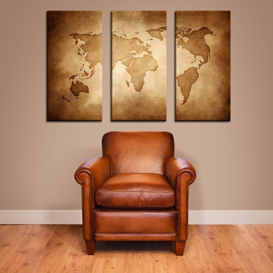 Well Liked Cool Map Wall Art With Regard To World Map Wall Decor For Elegant Spaces In Your House With Wooden (View 14 of 15)