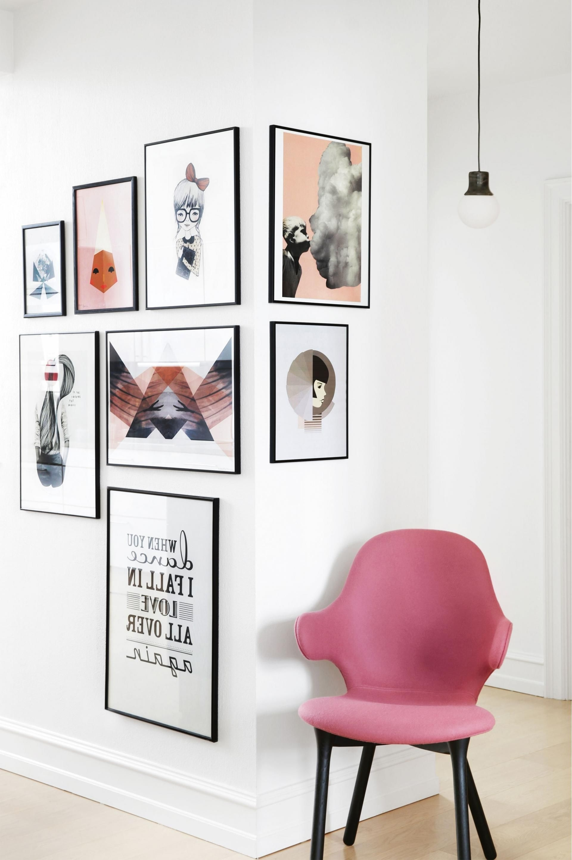 Well Liked Corner Wall Art Regarding 17 Unique Wall Art Display Ideas That Aren't Another Gallery Wall (View 8 of 15)