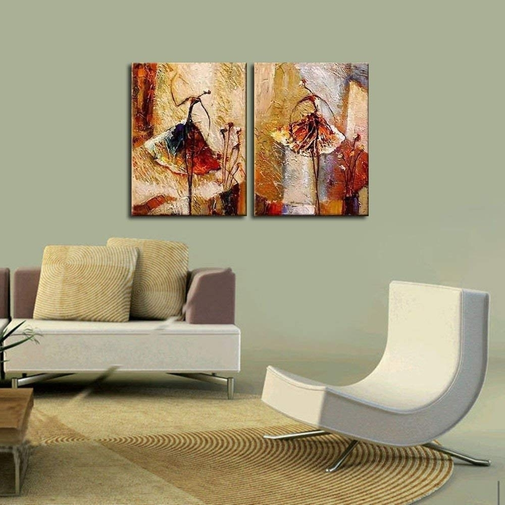 Well Liked Decorative Wall Art Intended For Amazon: Wieco Art Ballet Dancers 2 Piece Modern Decorative (View 3 of 15)