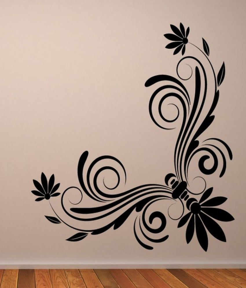 Well Liked Destudio Floral Corner Wall Art E Wall Art Stickers And Wall Inside Corner Wall Art (View 10 of 15)