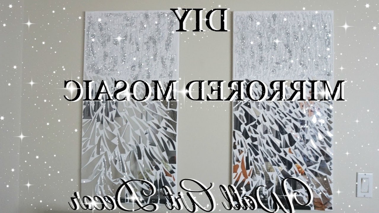 Well-liked Diy Mirror Mosaic Wall Art Pier One Inspired