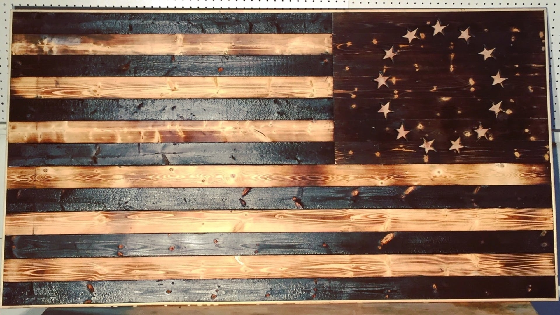 Well Liked Diy Wood Burned American Flag (View 14 of 15)