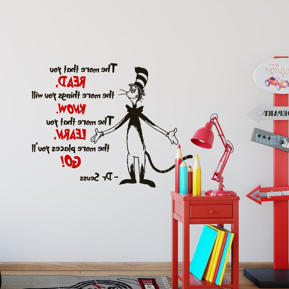 Well Liked Dr Seuss Wall Art With Dr Seuss Wall Decal Quote The More That You Read – Dr Seuss Wall (View 2 of 15)