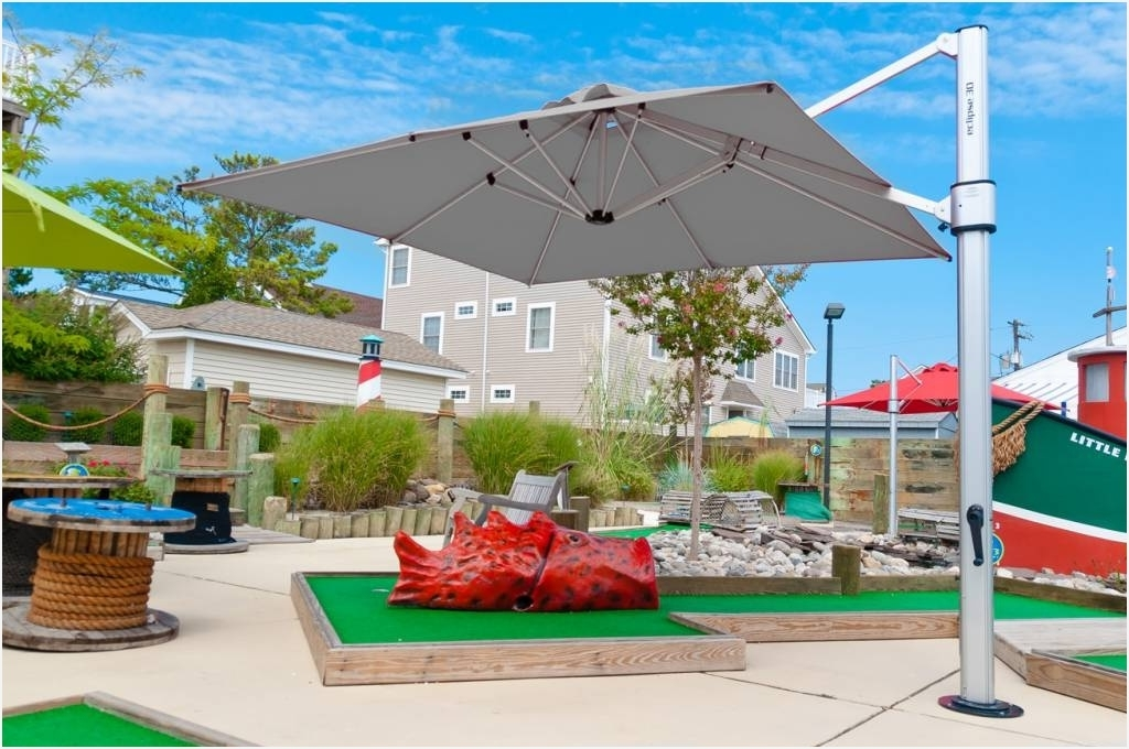 Well Liked Eclipse Patio Umbrellas With Regard To Commercial Patio Umbrella » Modern Looks Eclipse Cantilever Square (View 7 of 15)