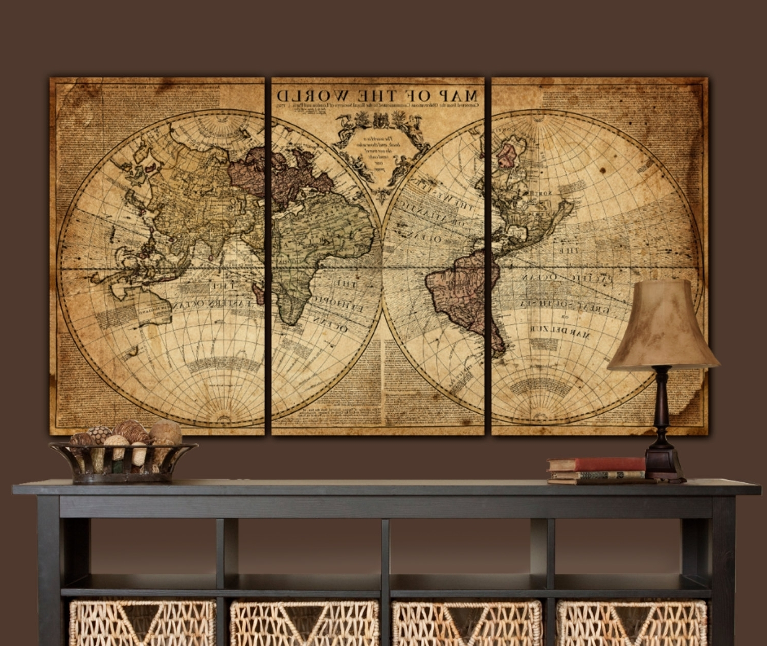 Well Liked Fresh Canvas Wall Art World Map (View 15 of 15)