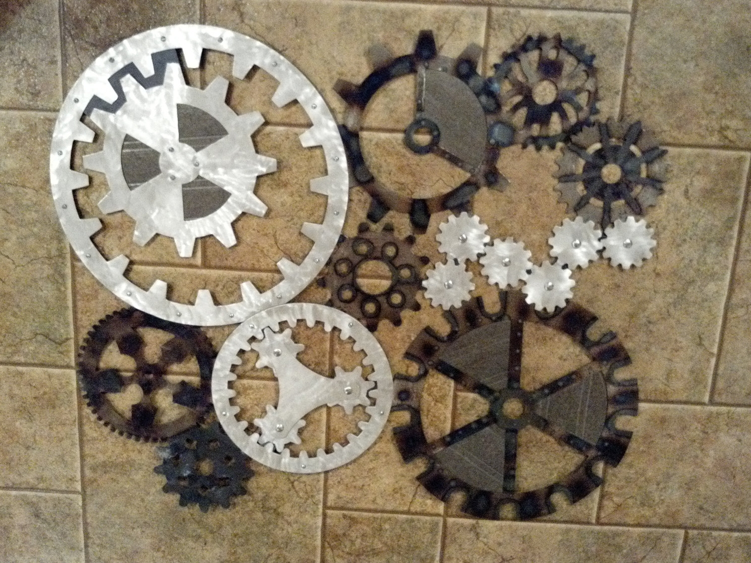 Well Liked Gears Art Industrial Steampunk Wall Decor Made Darkhorsegarage New Inside Steampunk Wall Art (View 14 of 15)