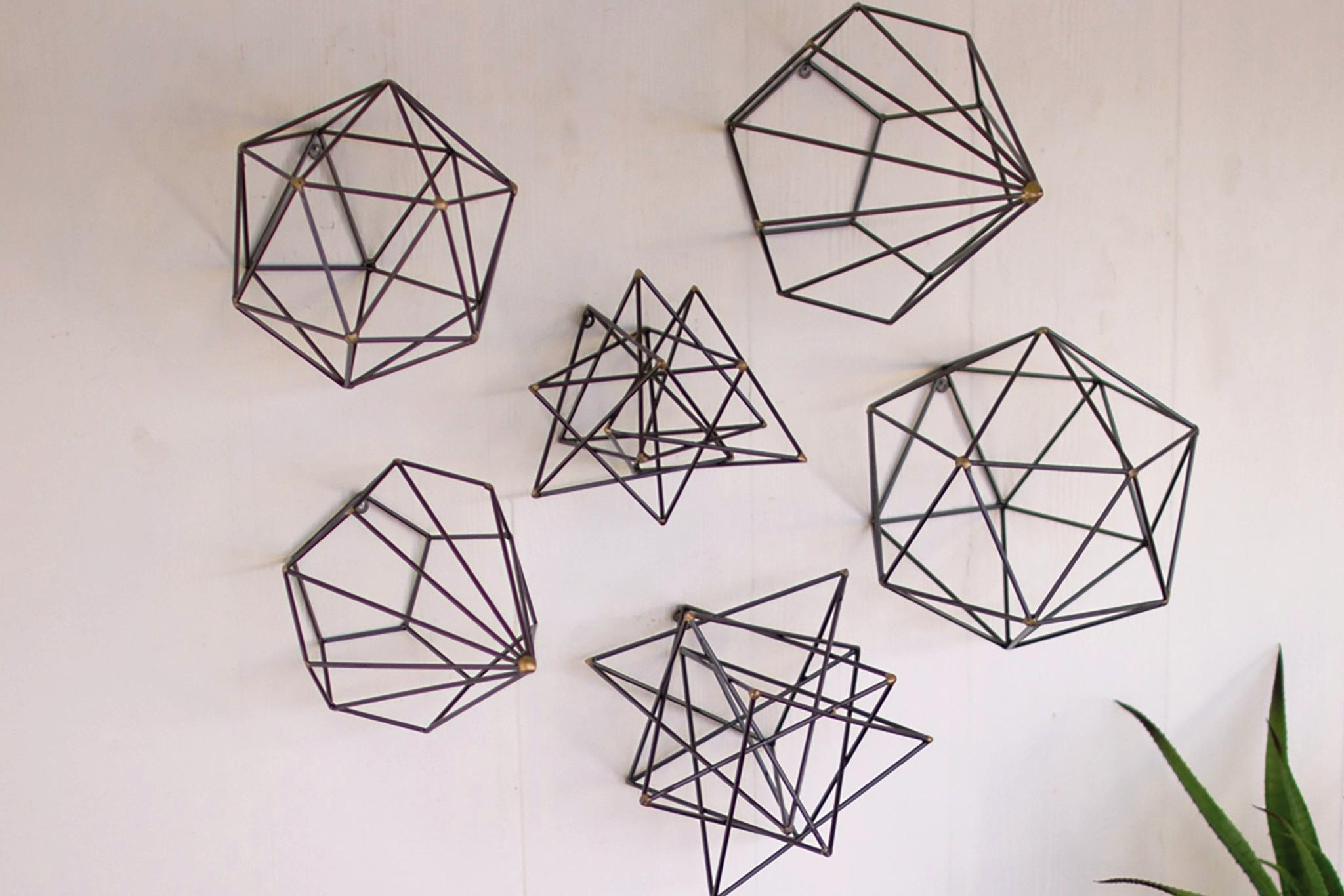 Well Liked Geometric Wall Art For Geometric Wall Art Set — Biaf Media Home Design (View 7 of 15)
