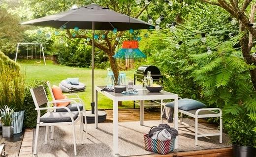 Well Liked Grey Patio Umbrellas Inside Patio Umbrellas & Accessories – Ikea (View 14 of 15)