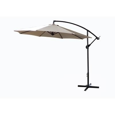 Well Liked Hampton Bay Offset Patio Umbrellas Pertaining To Hampton Bay – 10 Ft Offset Umbrella – Wg08 – Home Depot Canada (View 12 of 15)