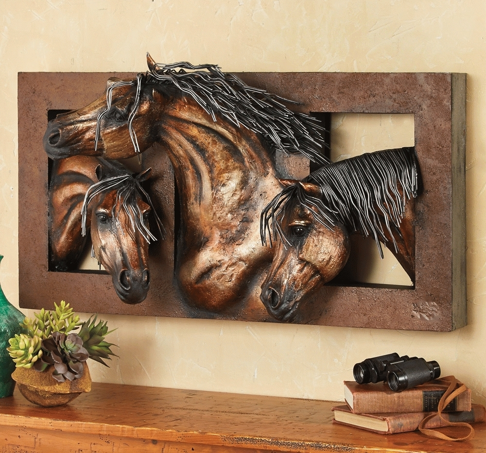 Well Liked Horses Wall Art For Sweet Freedom D Horse Wall Sculpture Regarding D Horse Wall Art (View 11 of 15)