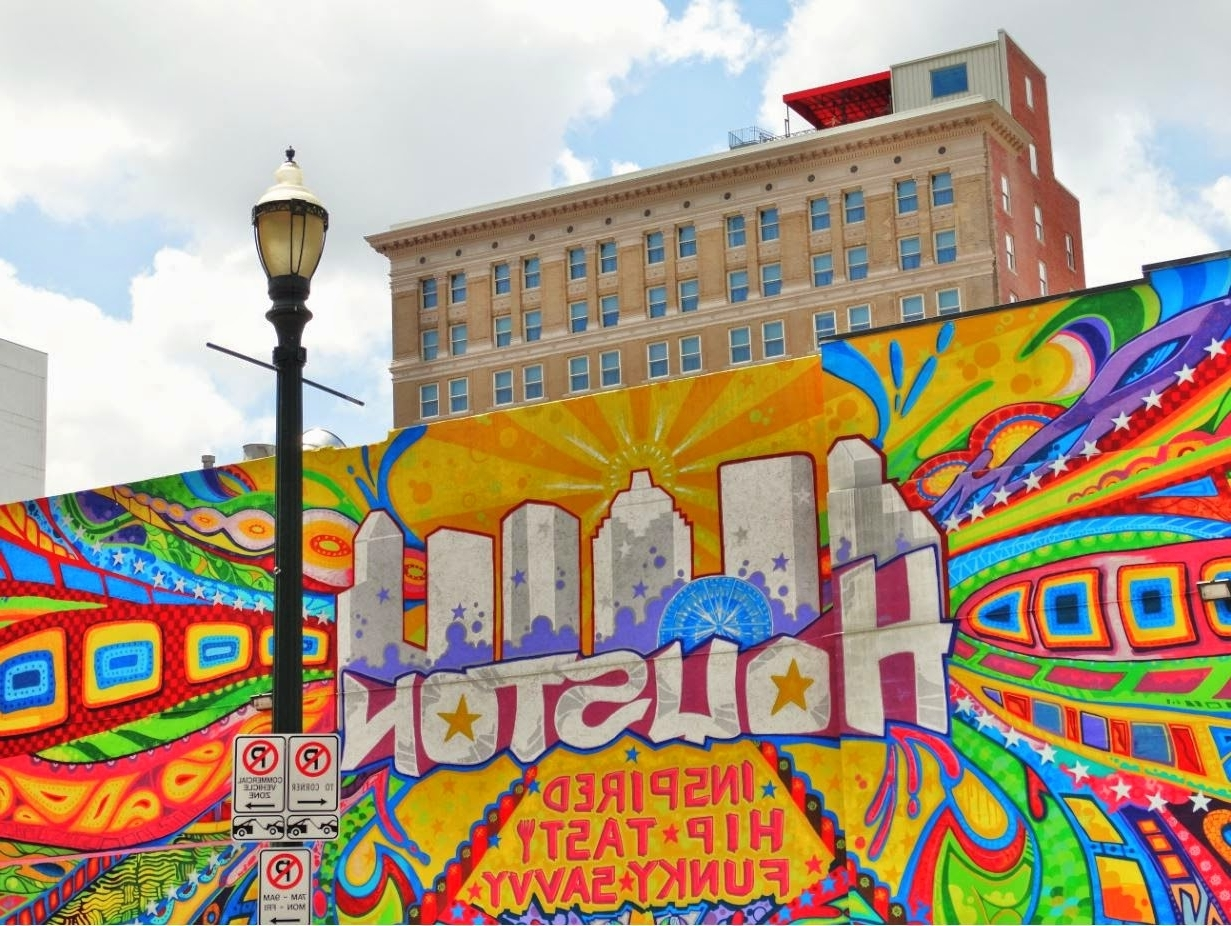 """Well Liked Houston Wall Art Within Houston In Pics: Houston """"art Wall""""  There Are Several Notable (View 15 of 15)"""