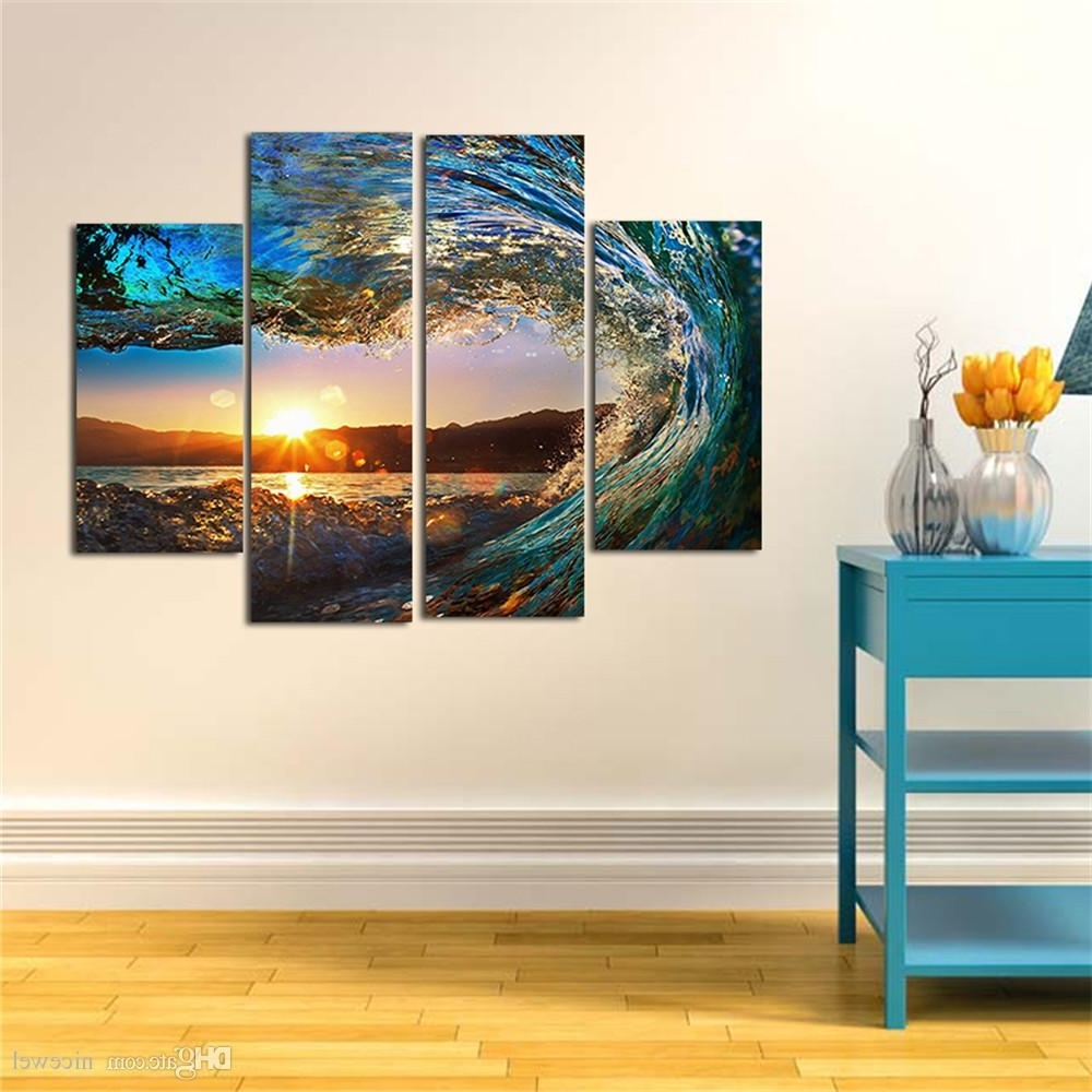 Well Liked Huge Wall Art Pertaining To Modern Huge Wall Art Oil Painting On Canvas Sea Wave Unframed Room (View 9 of 15)