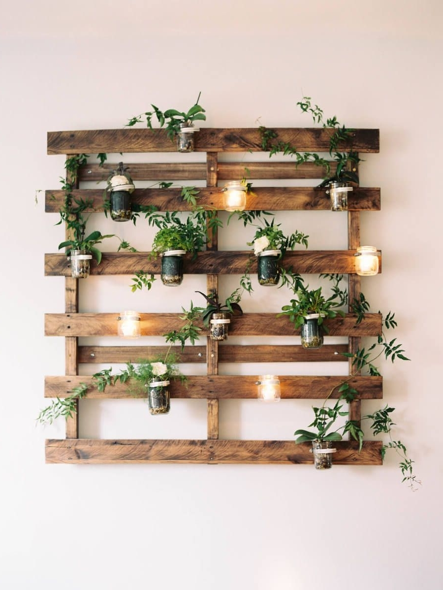 Well Liked Mason Jar Wall Art Inside 24 Enchanting Mason Jar Wall Decor Ideas To Brighten Your Walls (View 15 of 15)