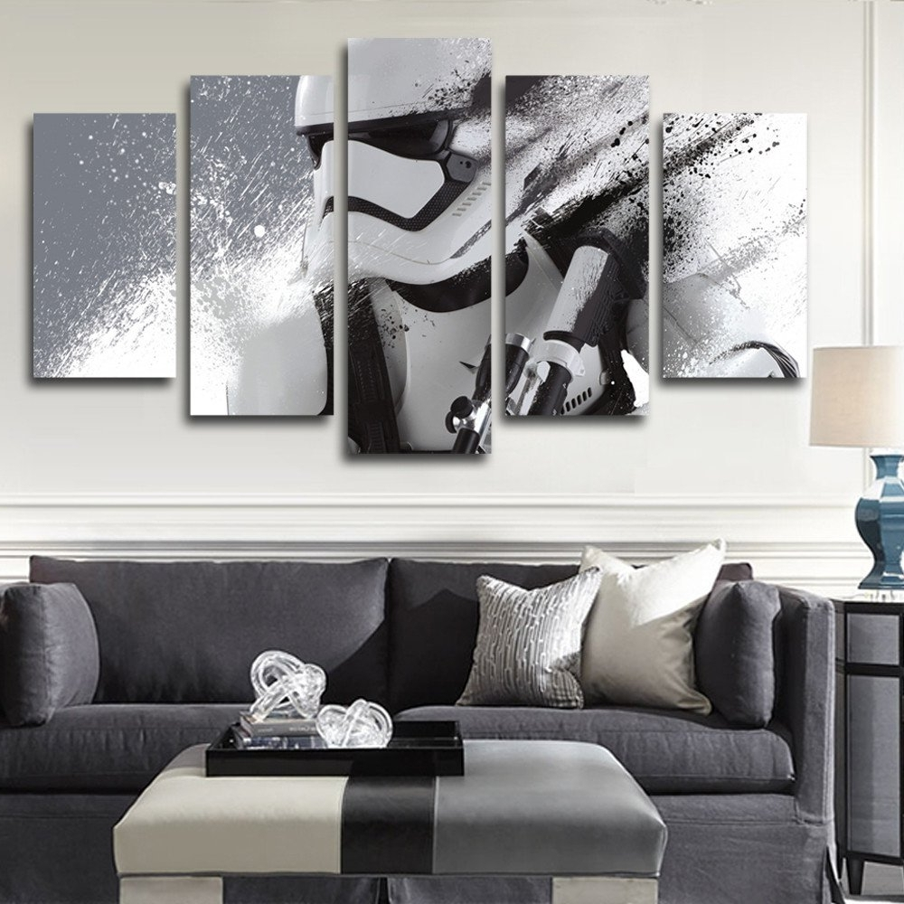 Well Liked Modern Ixxi Star Wars Stormtrooper Darth Vader Wall Art Star Wars With Regard To Star Wars Wall Art (View 13 of 15)