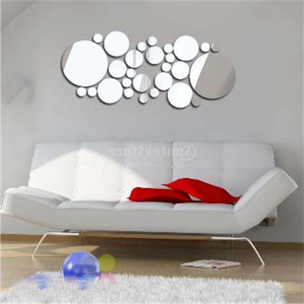 Well Liked New Arrivals 2016 Filled Circle Mirror Style Removable Decal Art Throughout Mirror Wall Art (View 15 of 15)