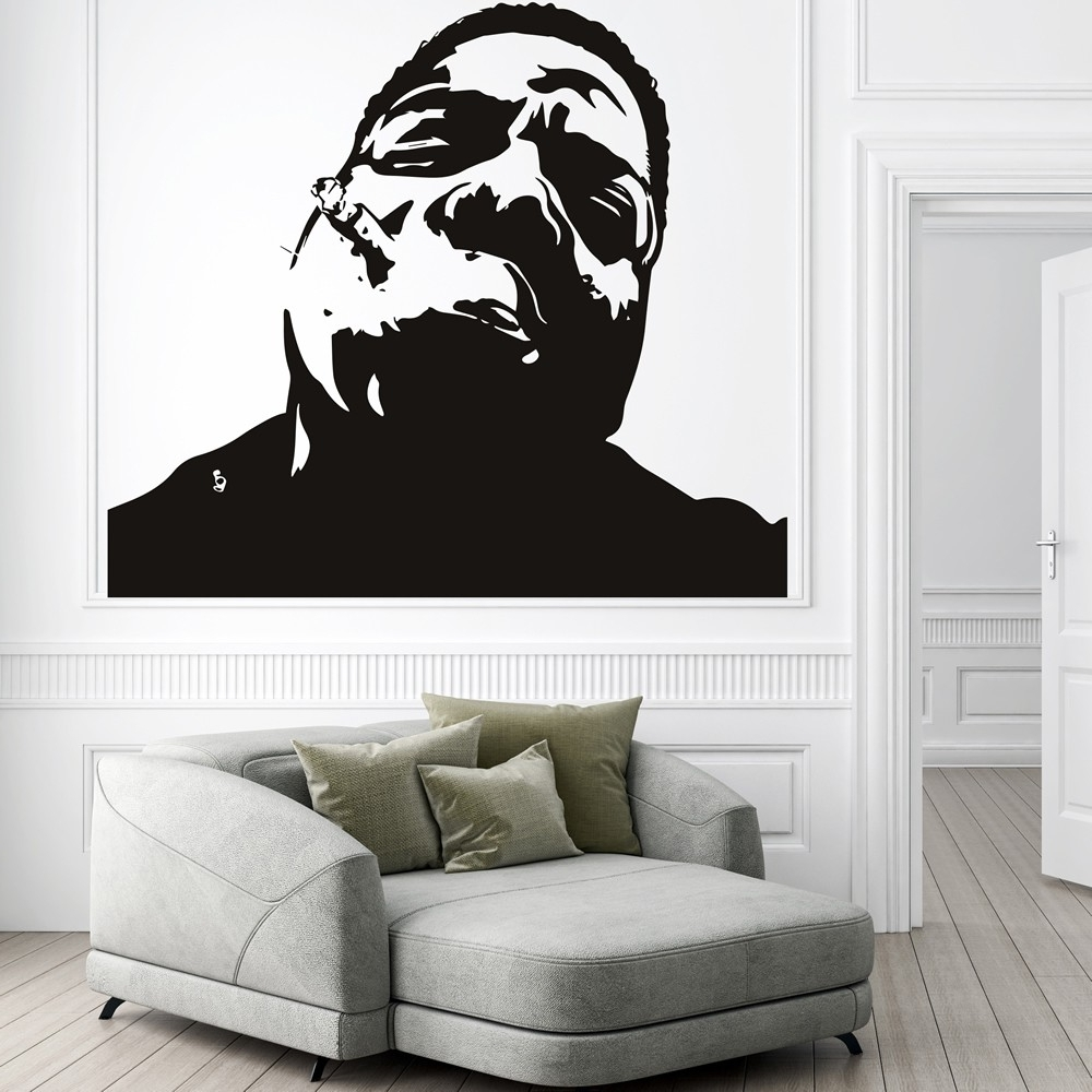 Well Liked Notorious Big Wall Sticker Rap Music Wall Decal Icon Celebrity Home With Wall Art Decals (View 15 of 15)