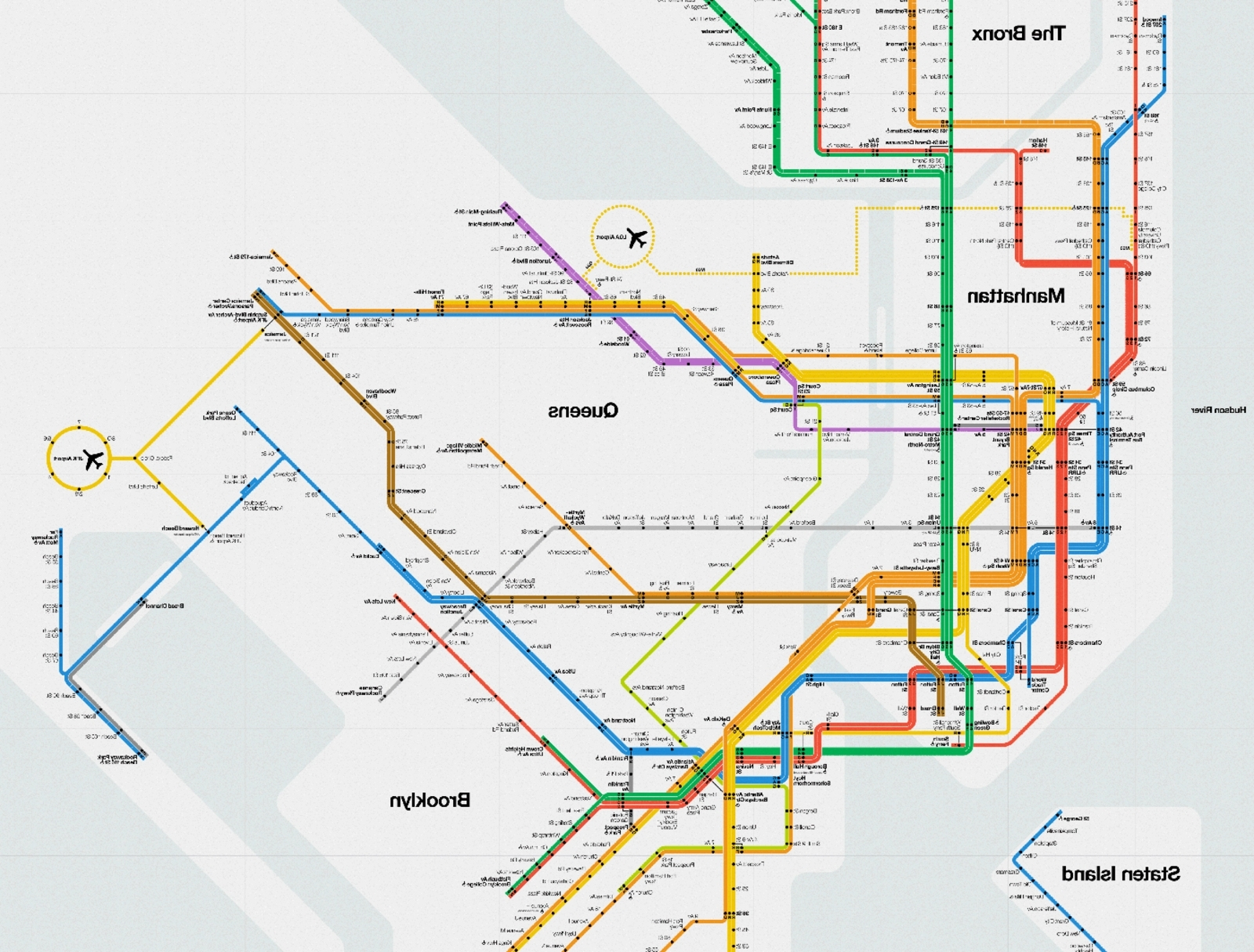 Well Liked Nyc Subway Map Wall Art In Nyc Subway Map Poster Large Massimo Vignelli Mta Poster Hero – Zed (View 14 of 15)