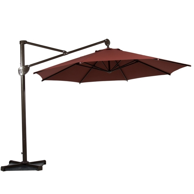 Well Liked Offset Cantilever Patio Umbrellas Inside Abba Patio 11 Feet Octagon Offset Cantilever Patio Umbrella With (View 15 of 15)