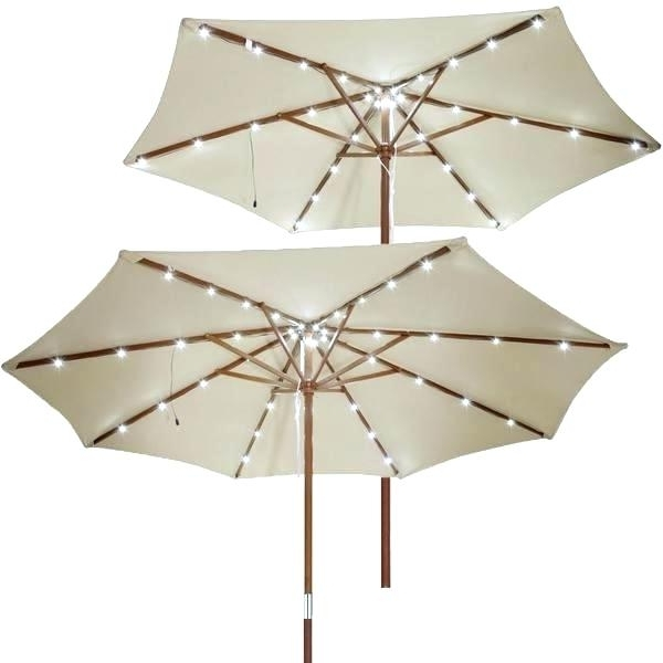 Well Liked Patio Umbrellas With Solar Led Lights With Umbrella With Lights Patio Umbrellas Solar Led Patio Umbrella With (View 15 of 15)