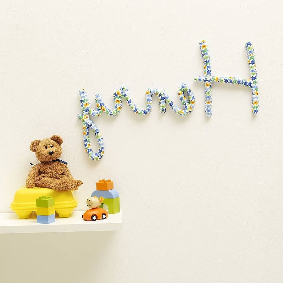 Well Liked Personalised Nursery Name Wall Art, Something Really Fancy (View 9 of 15)