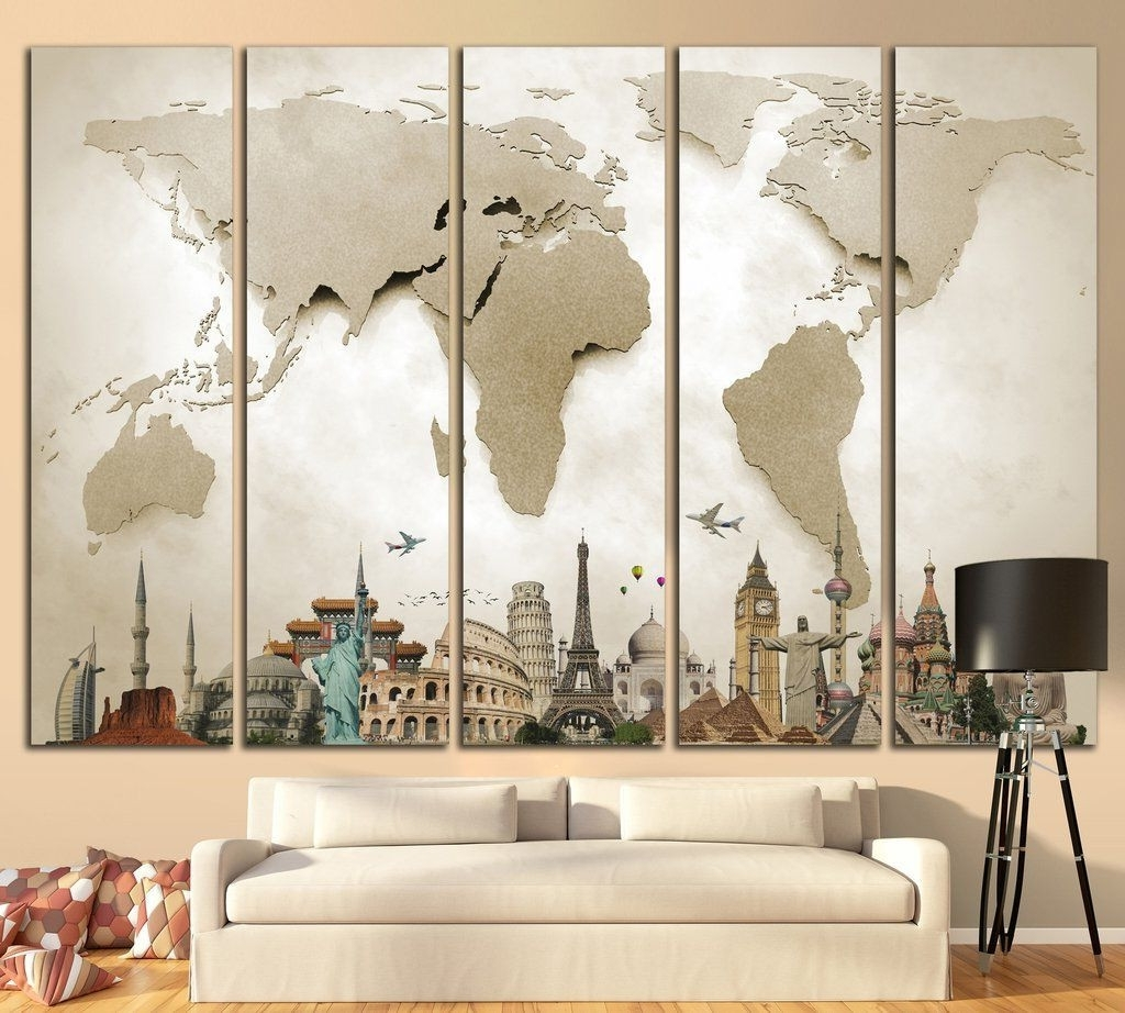 Well Liked Photo Gallery Of Wall Art Map World Viewing 11 45 Photos For Regarding Wall Art Map Of World (View 12 of 15)