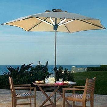 Well Liked Solar Patio Umbrellas In Solar Lights For Patio Umbrellas Delectable Umbrella With Solar (View 14 of 15)