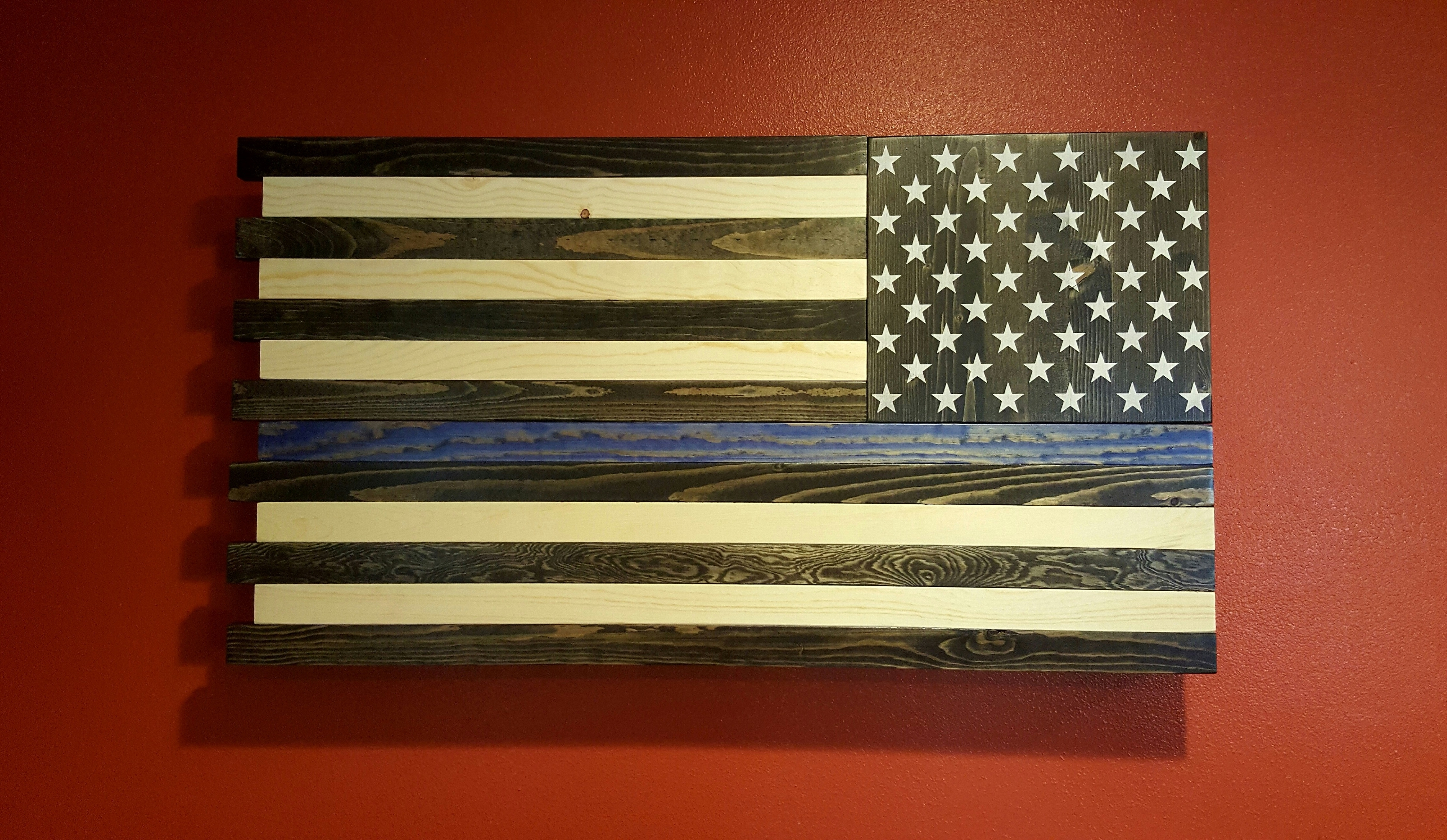 Well Liked The Thin Blue Line American Flag Wall Art In American Flag Wall Art (View 15 of 15)