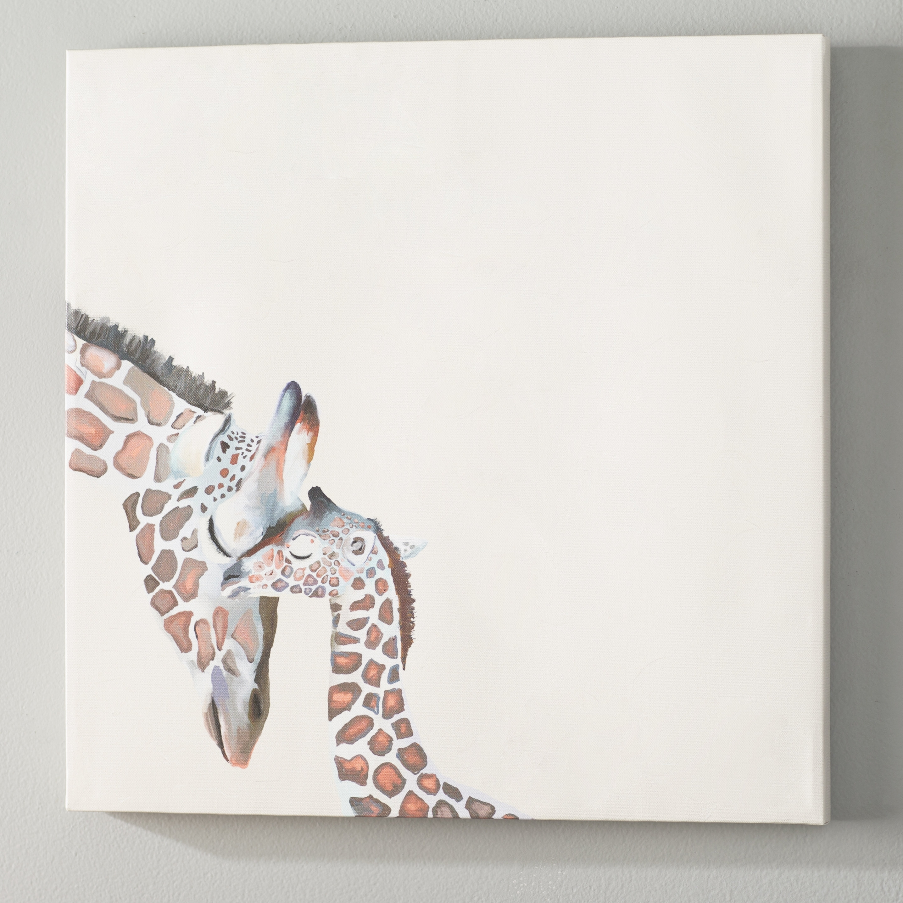 Well Liked Viv + Rae Kris You And Me Giraffe Canvas Wall Art (View 14 of 15)